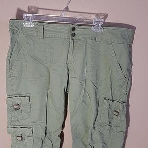 Aeropostle sz 11/12 green khaki capris